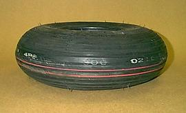 Rib Tread Tire Round Profile 400x8